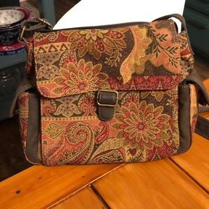 Fossil Tapestry Cross Body Purse